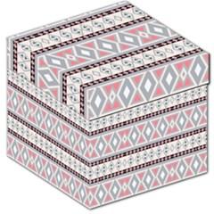 Fancy Tribal Border Pattern Soft Storage Stool 12