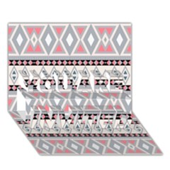 Fancy Tribal Border Pattern Soft You Are Invited 3d Greeting Card (7x5)