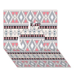 Fancy Tribal Border Pattern Soft Apple 3d Greeting Card (7x5)