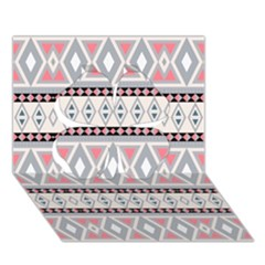 Fancy Tribal Border Pattern Soft Clover 3D Greeting Card (7x5)