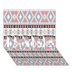Fancy Tribal Border Pattern Soft HOPE 3D Greeting Card (7x5)
