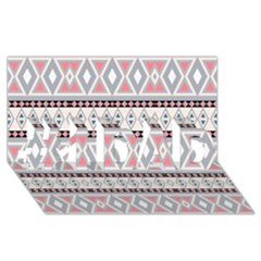 Fancy Tribal Border Pattern Soft #1 DAD 3D Greeting Card (8x4)