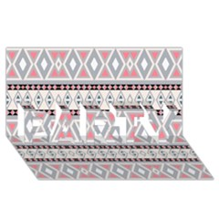 Fancy Tribal Border Pattern Soft Party 3d Greeting Card (8x4)