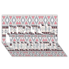 Fancy Tribal Border Pattern Soft Best Wish 3D Greeting Card (8x4)