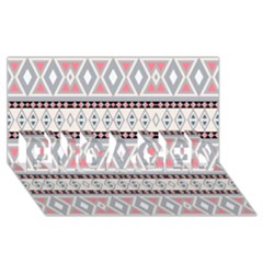 Fancy Tribal Border Pattern Soft Engaged 3d Greeting Card (8x4)