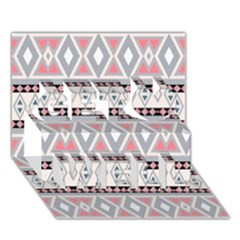 Fancy Tribal Border Pattern Soft Get Well 3D Greeting Card (7x5)