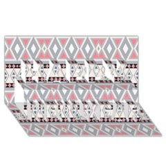 Fancy Tribal Border Pattern Soft Happy New Year 3D Greeting Card (8x4)