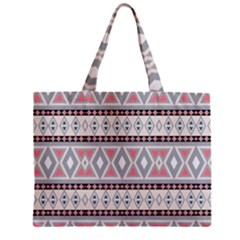 Fancy Tribal Border Pattern Soft Zipper Tiny Tote Bags
