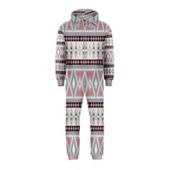 Fancy Tribal Border Pattern Soft Hooded Jumpsuit (Kids)