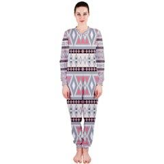 Fancy Tribal Border Pattern Soft OnePiece Jumpsuit (Ladies)
