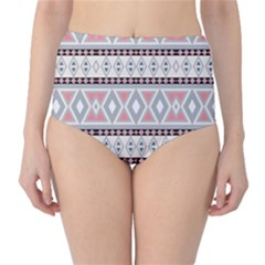 Fancy Tribal Border Pattern Soft High-Waist Bikini Bottoms