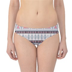 Fancy Tribal Border Pattern Soft Hipster Bikini Bottoms