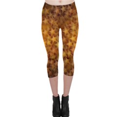 Gold Stars Capri Leggings
