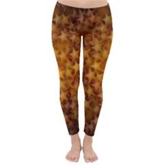 Gold Stars Winter Leggings