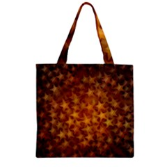 Gold Stars Zipper Grocery Tote Bags
