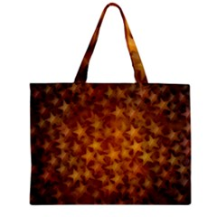 Gold Stars Zipper Tiny Tote Bags
