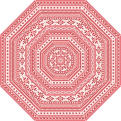 Fancy Tribal Borders Pink Folding Umbrellas