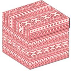 Fancy Tribal Borders Pink Storage Stool 12