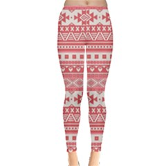 Fancy Tribal Borders Pink Women s Leggings