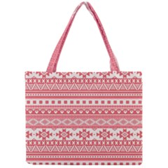 Fancy Tribal Borders Pink Tiny Tote Bags