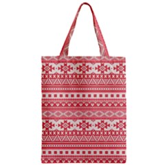 Fancy Tribal Borders Pink Classic Tote Bags