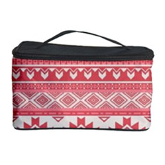 Fancy Tribal Borders Pink Cosmetic Storage Cases
