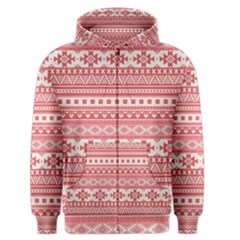 Fancy Tribal Borders Pink Men s Zipper Hoodies