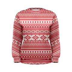 Fancy Tribal Borders Pink Women s Sweatshirts