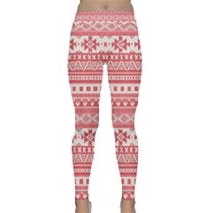 Fancy Tribal Borders Pink Yoga Leggings