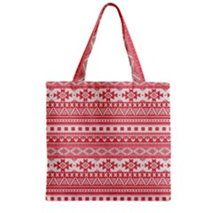 Fancy Tribal Borders Pink Zipper Grocery Tote Bags