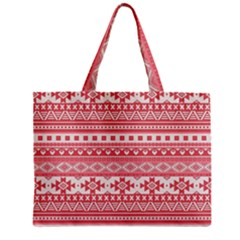 Fancy Tribal Borders Pink Zipper Tiny Tote Bags