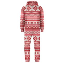 Fancy Tribal Borders Pink Hooded Jumpsuit (Men)