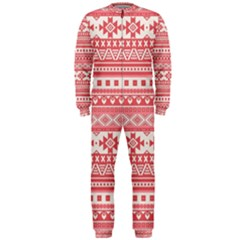 Fancy Tribal Borders Pink OnePiece Jumpsuit (Men)