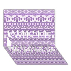 Fancy Tribal Borders Lilac You Are Invited 3d Greeting Card (7x5)