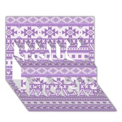 Fancy Tribal Borders Lilac You Rock 3D Greeting Card (7x5)