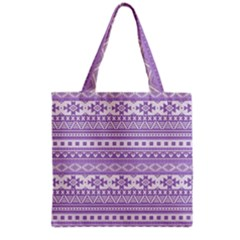 Fancy Tribal Borders Lilac Grocery Tote Bags