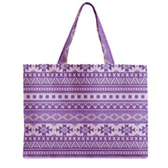 Fancy Tribal Borders Lilac Tiny Tote Bags
