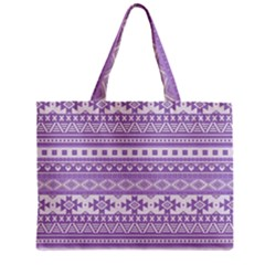 Fancy Tribal Borders Lilac Zipper Tiny Tote Bags