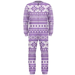 Fancy Tribal Borders Lilac OnePiece Jumpsuit (Men)