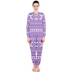 Fancy Tribal Borders Lilac Onepiece Jumpsuit (ladies)