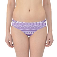 Fancy Tribal Borders Lilac Hipster Bikini Bottoms