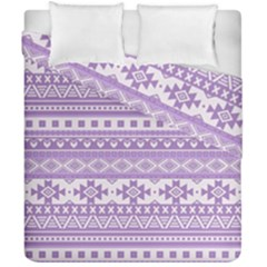 Fancy Tribal Borders Lilac Duvet Cover (double Size)