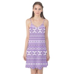 Fancy Tribal Borders Lilac Camis Nightgown