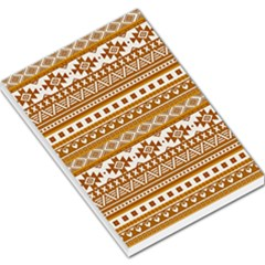 Fancy Tribal Borders Golden Large Memo Pads