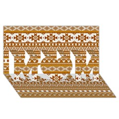 Fancy Tribal Borders Golden MOM 3D Greeting Card (8x4)