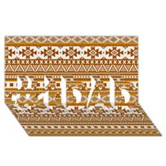 Fancy Tribal Borders Golden #1 DAD 3D Greeting Card (8x4)