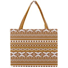 Fancy Tribal Borders Golden Tiny Tote Bags