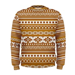 Fancy Tribal Borders Golden Men s Sweatshirts
