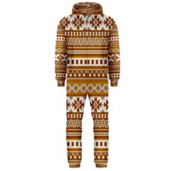 Fancy Tribal Borders Golden Hooded Jumpsuit (Men)