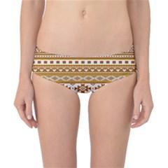 Fancy Tribal Borders Golden Classic Bikini Bottoms